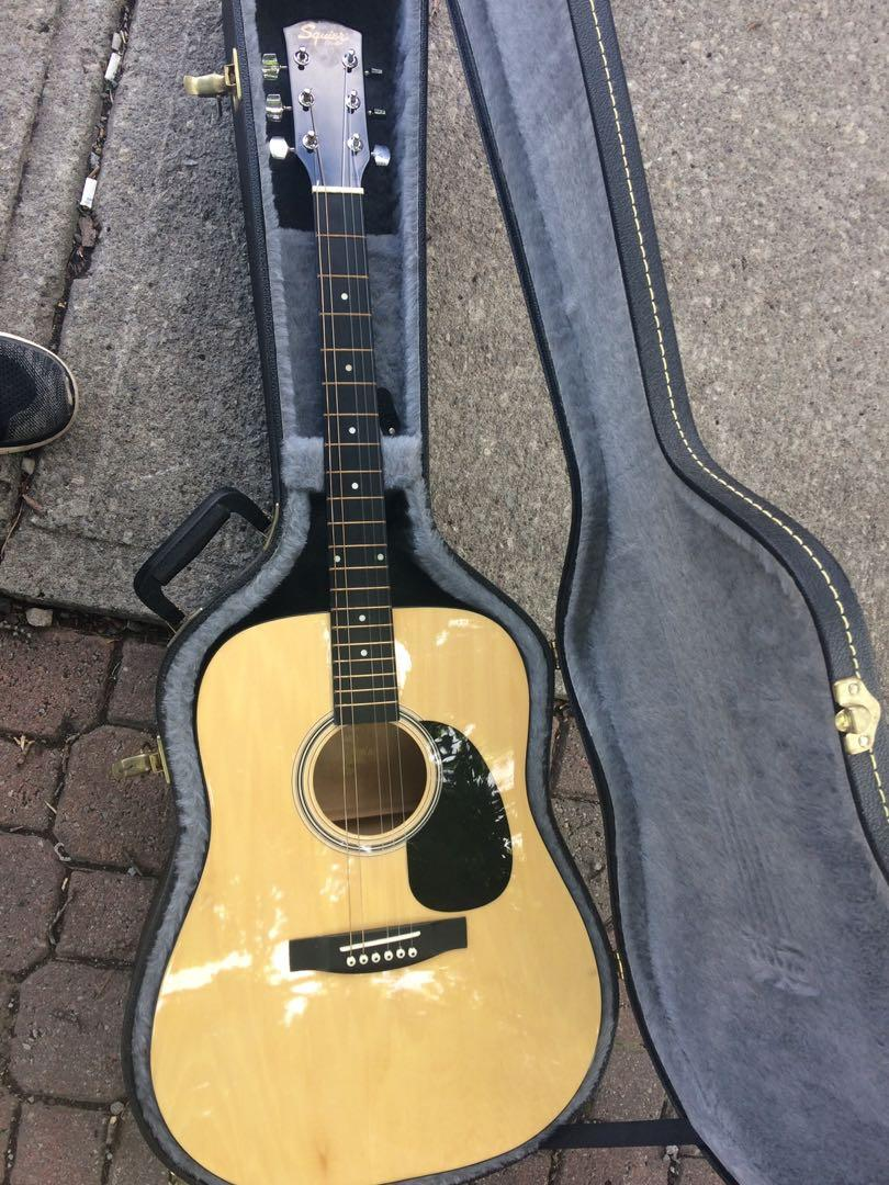 Squier by fender acoustic guitar, almost brand new