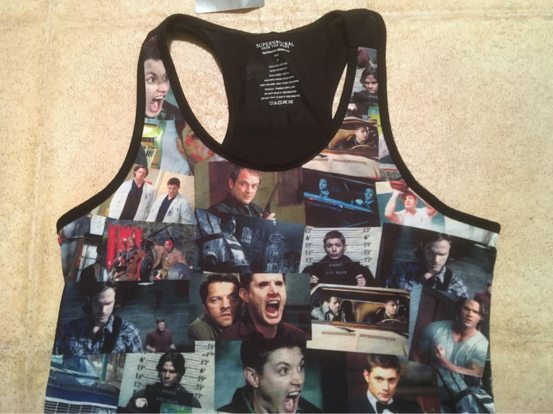 Supernatural TV Show Hot Topic Black Racerback Tank New with Tags Size Small