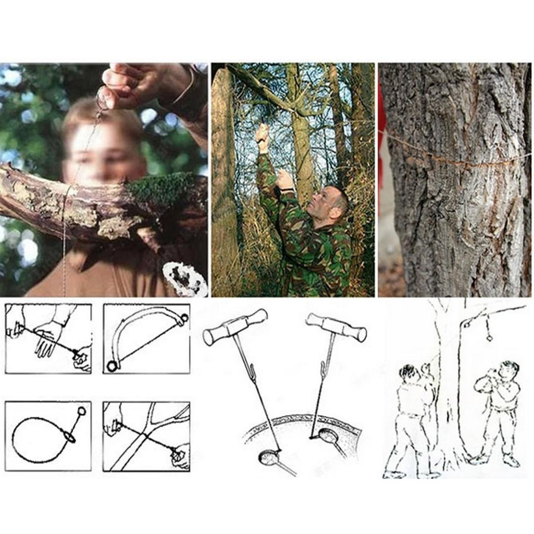 Survival Wire Chainsaw 不銹鋼 線鋸鏈鋸 鋼絲鋸 露營用品 Camping Pouch Outdoor Activities Tool CA011