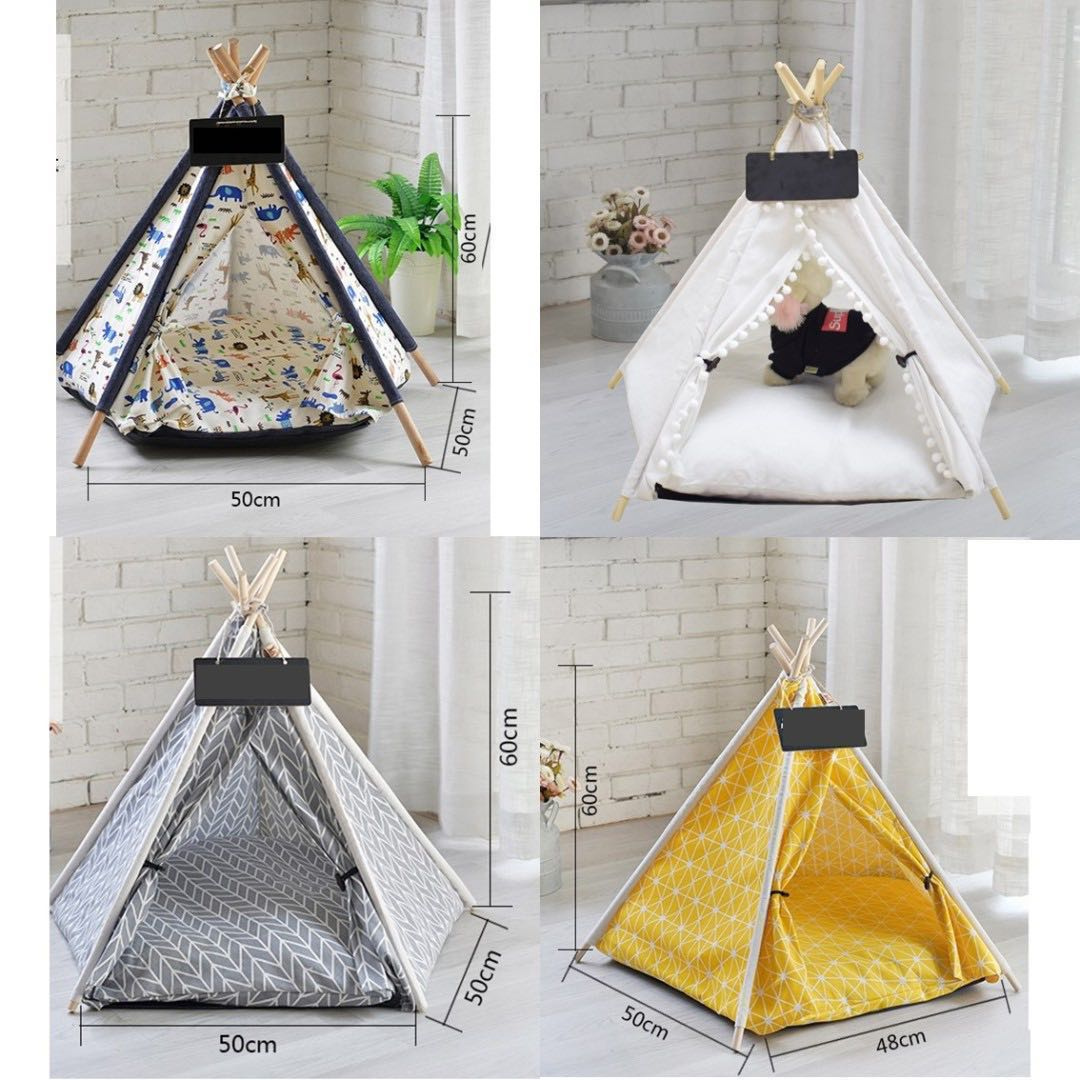 photo photo ...  sc 1 st  Carousell & tent cushion pet bed cave cat dog kitten puppy not cage carrier ...