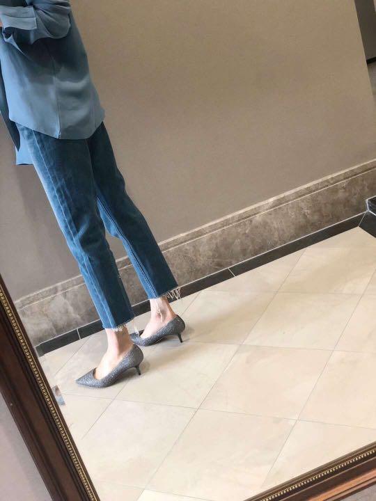 【推薦】The Kooples 鎮店好褲子 水洗藍直筒毛須牛仔褲