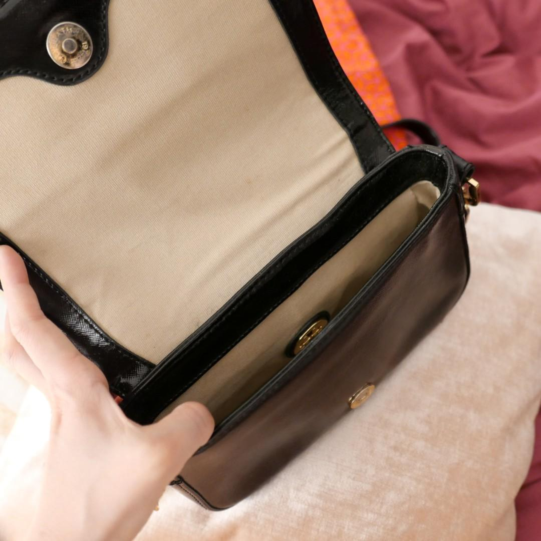 Tory Burch Chain Mini Black Cross Body Bag