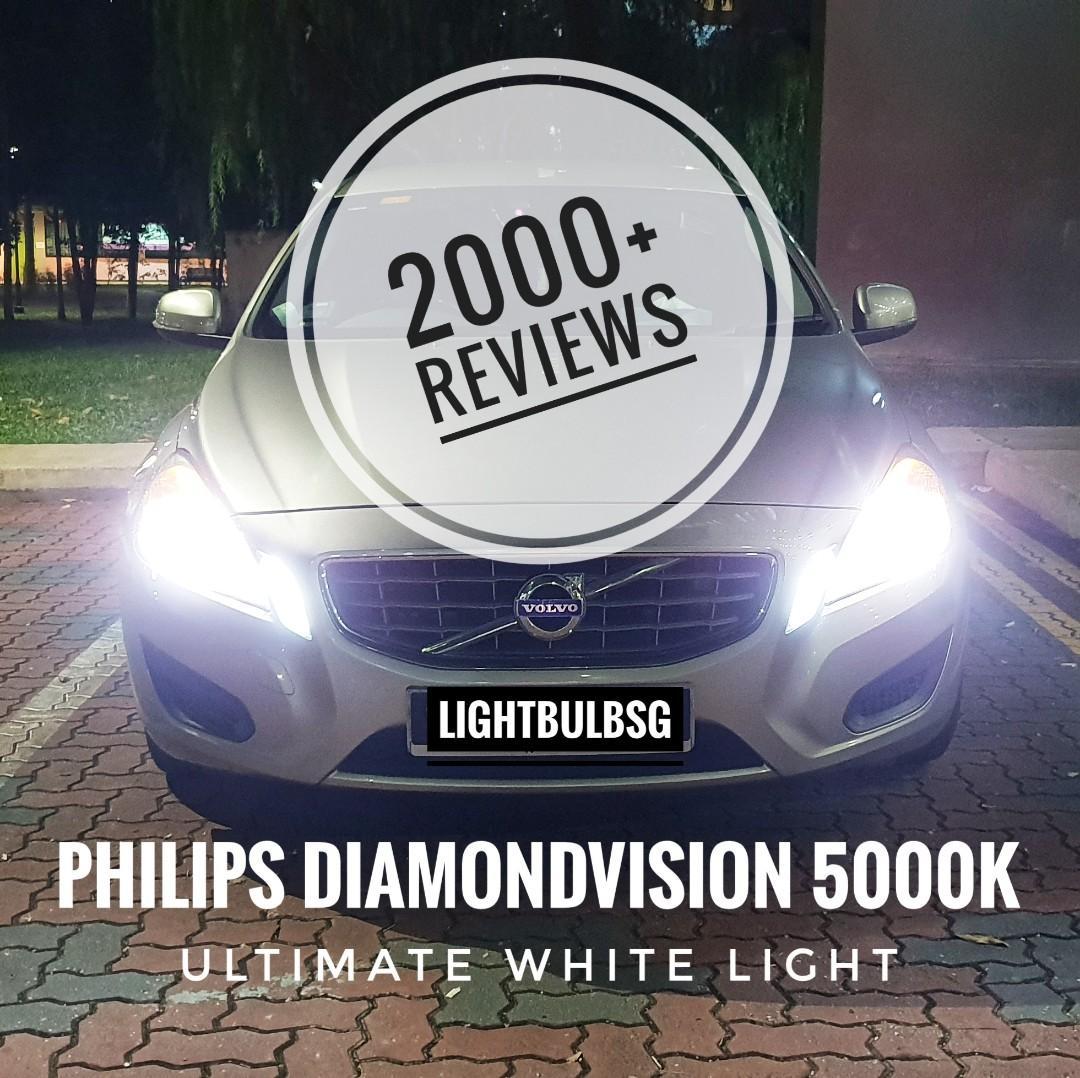 Volvo S60 V60 S40 V40 Xc40 Xc60 On H7 Philips Diamondvision White