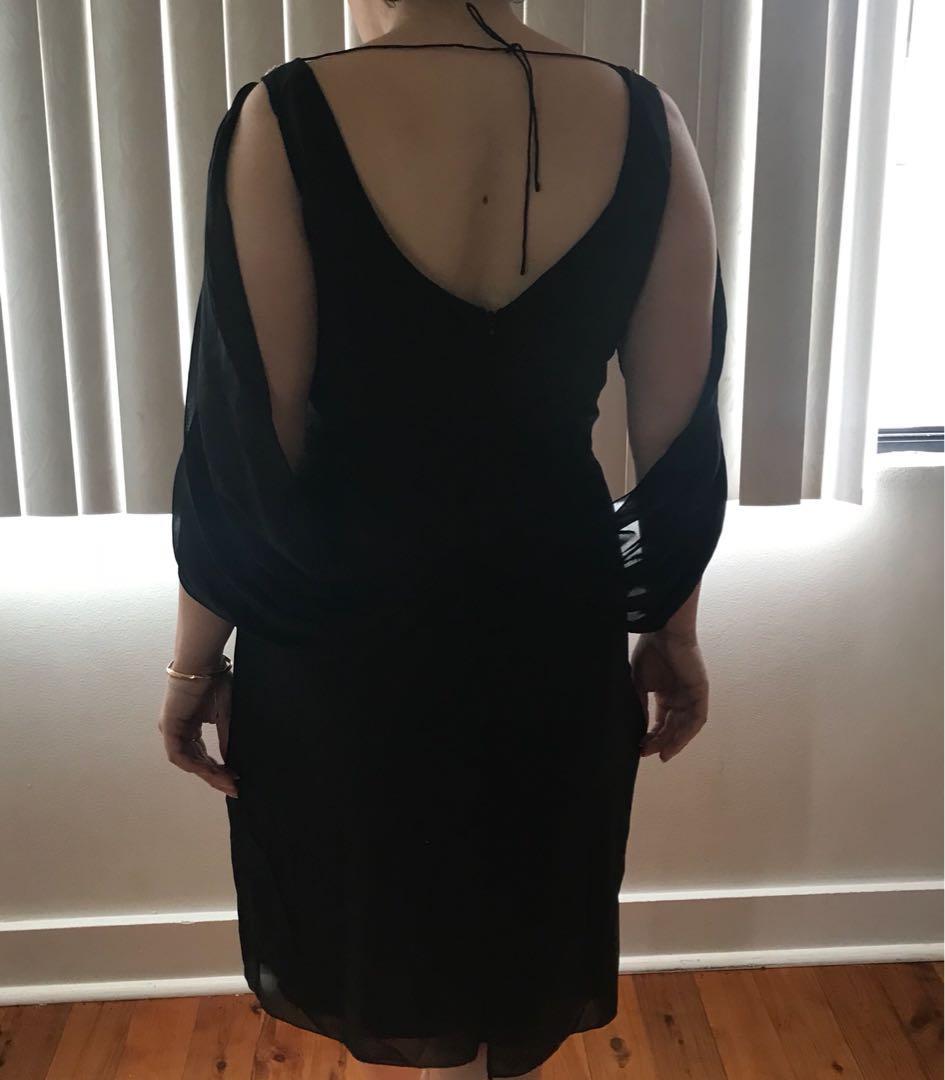 Women's lounge black evening formal dress sIze 12 RRP $125