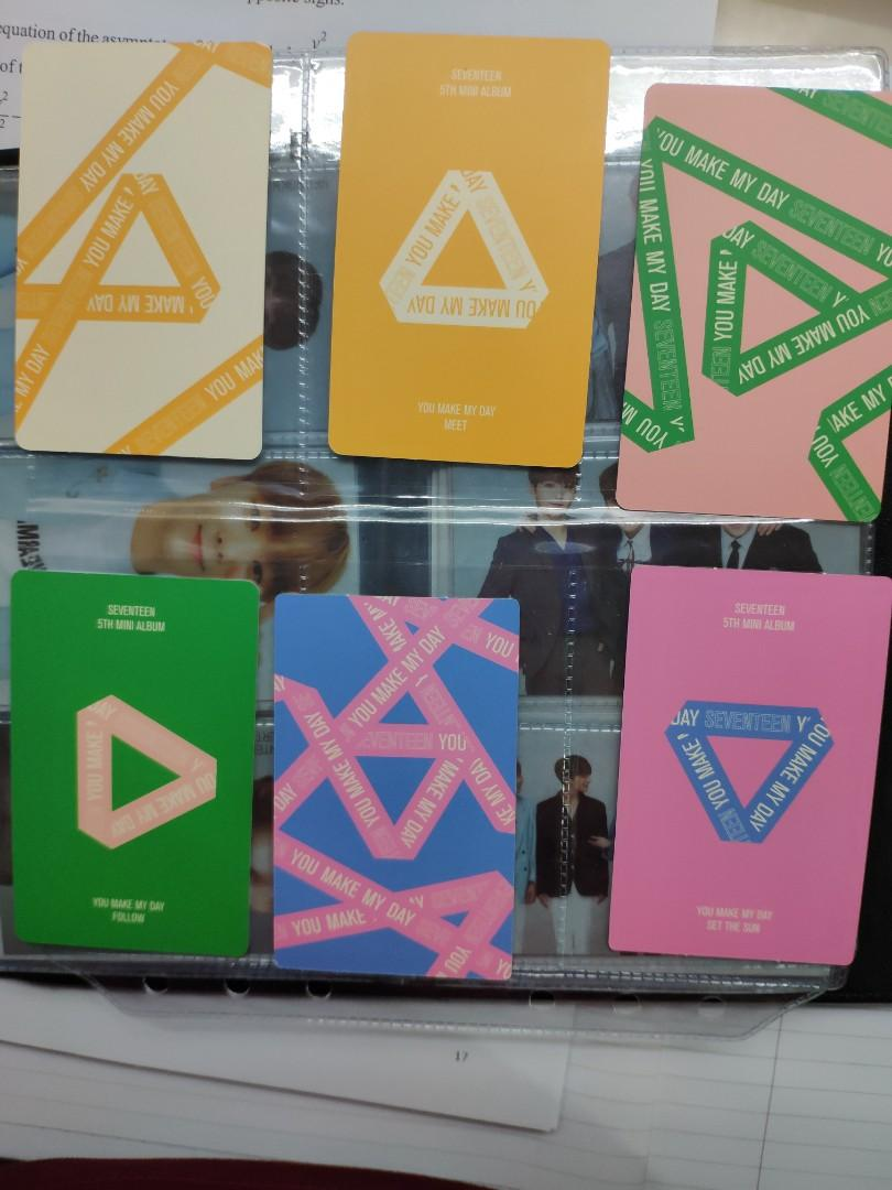 wts ymmd seventeen you make my day photocards