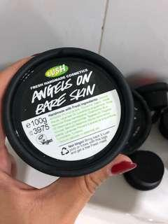 Lush angels on bare skin fresh cleanser
