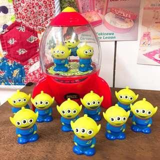 🚚 迪士尼 玩具中動員 三眼怪 小綠人  toy story  三眼外星人 皮克斯 洗澡玩具 玩具公仔 疊疊樂