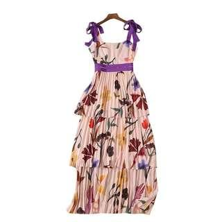 Runway Floral Printed Party Dress (sale)