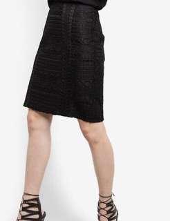 🚚 Zalora Premium Trim Insert Midi Skirt