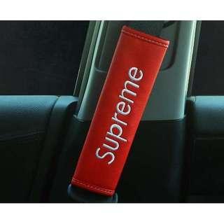 Supreme Seat Belt cover - Red Base (Set of 2)
