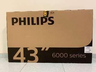 """Phillips 43"""" ultra slim smart LED tv"""