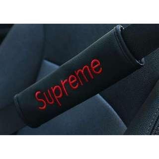 Supreme Seat Belt cover - Black Base (Set of 2)