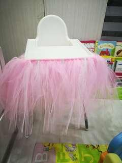 Baby chair pink tutu