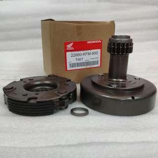 HONDA DREAM AUTO CLUTCH HOUSING SET