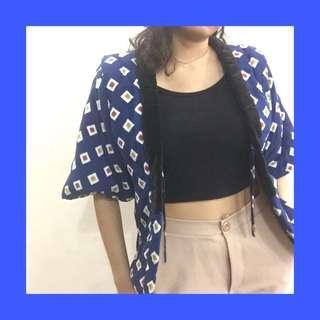 thrifted kimono outwear