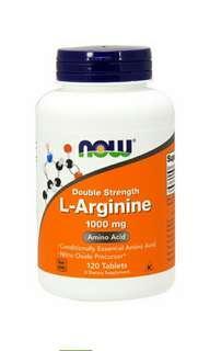 現貨, Now Foods, L-精氨酸,1000 毫克,120 粒 促進性健康增強耐力和性功能, 亦有助血管及血壓健康的膳食補充劑 ,全天然,绝無西藥成份。 本產品中使用的L-精氨酸是藥物級。  Now Foods, L-Arginine, 1000 mg, 120 tablets