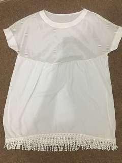 White Beach Dress See Through