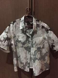 Zalora Floral Button Shirt