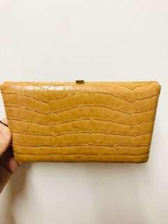 Leather wallet purse 皮長銀包