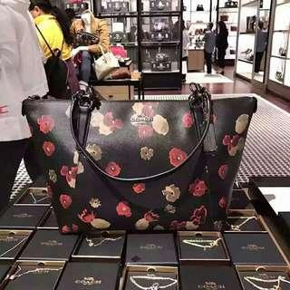 AVA TOTE IN HALFTONE FLORAL PRINT COATED CANVAS (COACH F55541)
