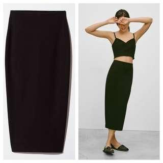 Babaton Aritzia Black Midi Skirt
