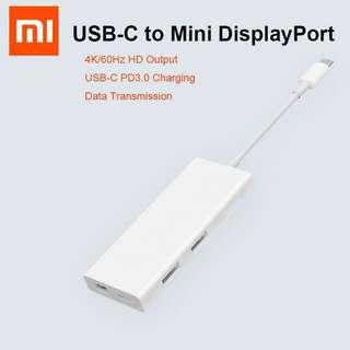 Xiaomi USB-C to Mini DisplayPort + USB 3.0 Adapter Hub + Passthrough Charging - For MAC & PC