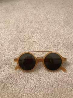 Authentic CELINE yellow sunglasses