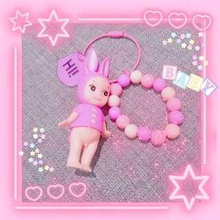 🚚 手作吊飾 粉色兔寶寶🐰