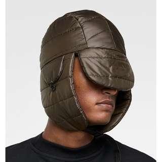 ZARA Quilted Padded Hat with Ear Muffs Flaps FOR WINTER USE Khaki