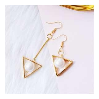 Asymmetric Pearl Earrings