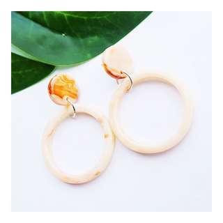 Circle Acrylic Earrings