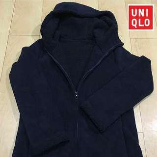 UNIQLO Fleece Long Hoodie (coat-length)