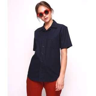 Navy Blouse Shirt by Erigo