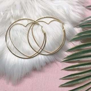 🚚 ❣️[premium] *new* big inner heart hoop earrings