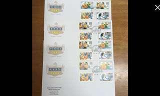1995 香港影星首日封連四枚郵票郵戳(每封計)