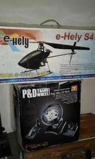 PSX2 power racing whell & e-Hely s4 series
