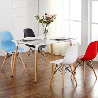 Nordic Dining Tables Eames Chair Solid Wood and MDF