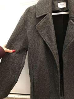 ZARA Charcoal Gray Peacoat in Size Small