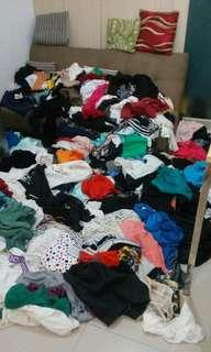 Garage sale for only 25 pesos each,blouses and shorts