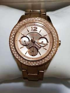 Authentic beautiful Fossil Watch for ladies in Rose Gold
