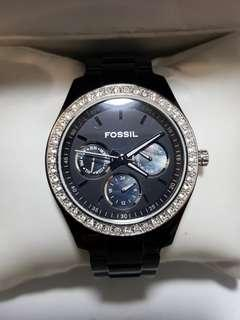 Authentic Fossil Watch for ladies in stealth black