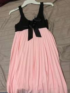 Kids Black Pink Dress (Size 10)