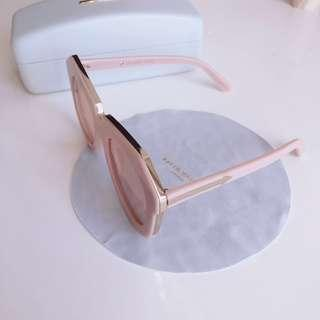 Karen Walker oversized sunglasses One Meadow dusty pink