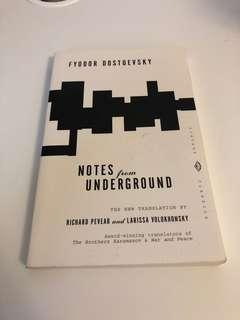 notes from underground- fyodor dostoevsky- vintage classics