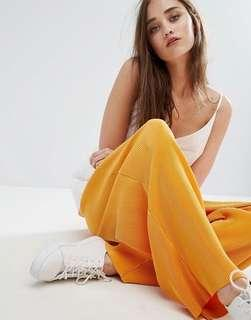 Weekday gold / orange accordion pleats culottes