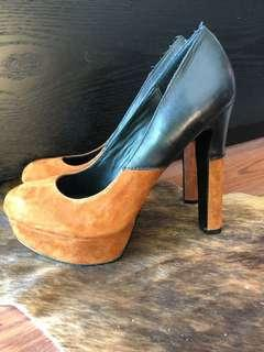 Dolce Vita Black&Tan Platform Heels Size 7.5