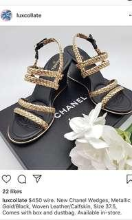 Chanel 17P Braided Wedges/Heels