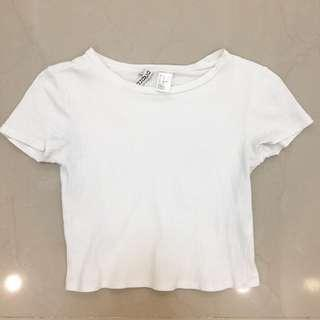 H&M white basic ribbed top