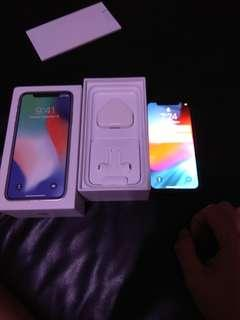 Iphone x 256gb sliver