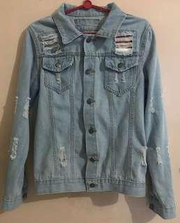 Denim Jacket (Blue Ripped)